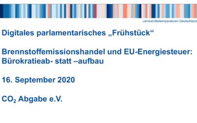"""Medieninfo: """"Mit CO2-Bepreisung den Bürokratieabbau vorantreiben"""""""