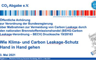 Anhörung im Bundestag zum Schutz der Industrie vor Abwanderung