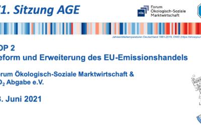 Reform und Erweiterung des EU-Emissionshandels